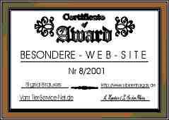 Besondere Web-Site